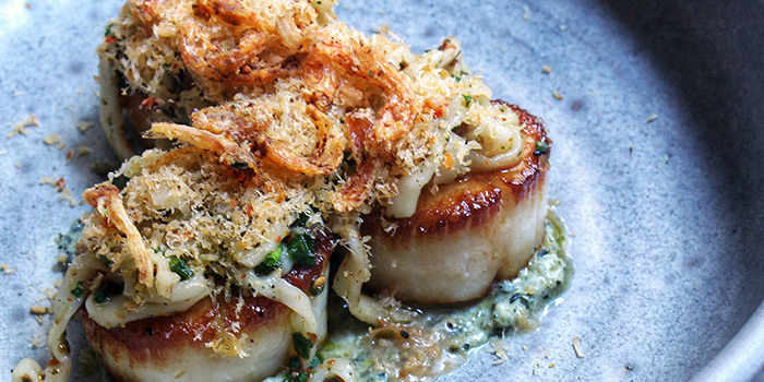Scallops from Salted & Hung on Purvis Street in Bugis, Singapore