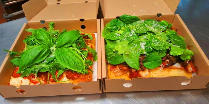 Selection of Pizza from Holey Bakery Suanplu at 39/17 Suan Phlu Khwaeng Thung Maha Mek, Sathon Bangkok