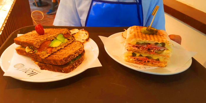 Selection of Sandwiches	from Holey Bakery Suanplu at 39/17 Suan Phlu Khwaeng Thung Maha Mek, Sathon Bangkok