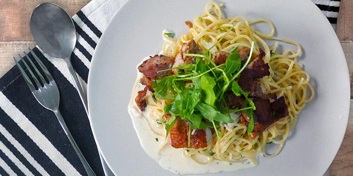 Spaghetti al Pollo from The Grumpy Bear Cafe at Kebun Baru Community Centre in Ang Mo Kio, Singapore