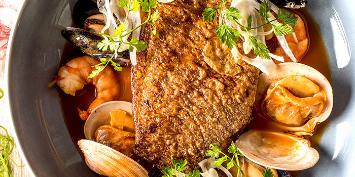 Snapper Bouillabaisse Signature from One-Ninety Restaurant at Four Seasons Hotel Singapore in Orchard Road, Singapore
