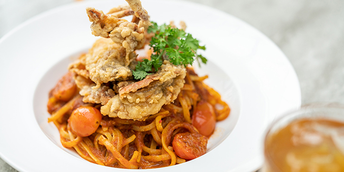 Soft Shell Crab Chilli Linguine from Food For Thought in the National Museum of Singapore in Dhoby Ghaut, Singapore