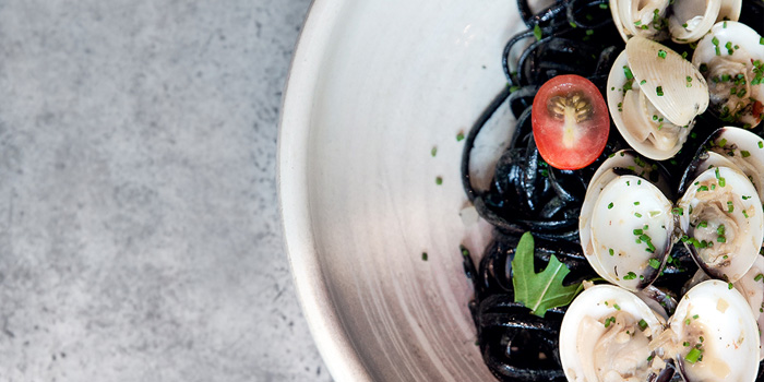 Squid Ink Linguine, The Grill Room, Tsim Sha Tsui, Hong Kong