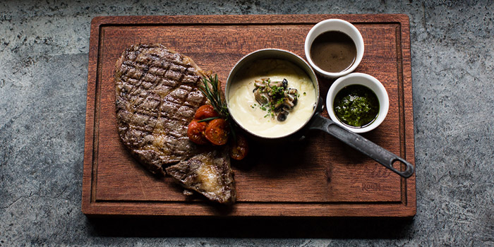 Steak Angus Rib Eye, The Grill Room, Tsim Sha Tsui, Hong Kong