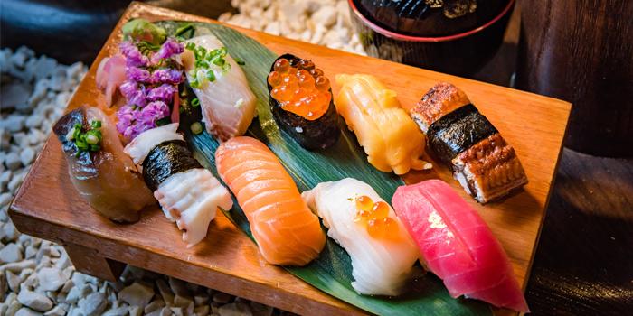 Sushi from Kiko Japanese Restaurant in Patong, Phuket, Thailand.