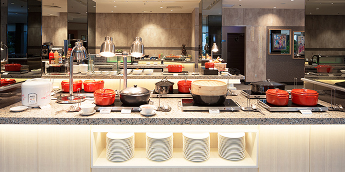 Buffet Spread of The FernTree Cafe at Hotel Miramar in River Valley, Singapore