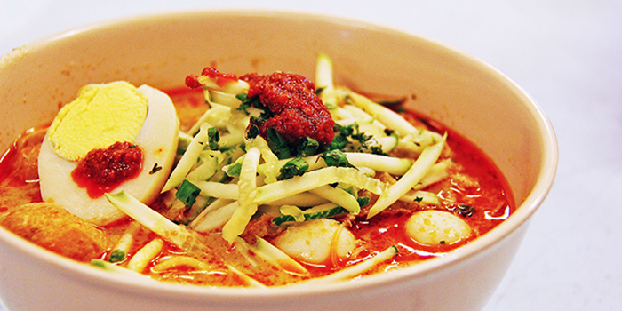 Nonya Laksa from The FernTree Cafe at Hotel Miramar in River Valley, Singapore