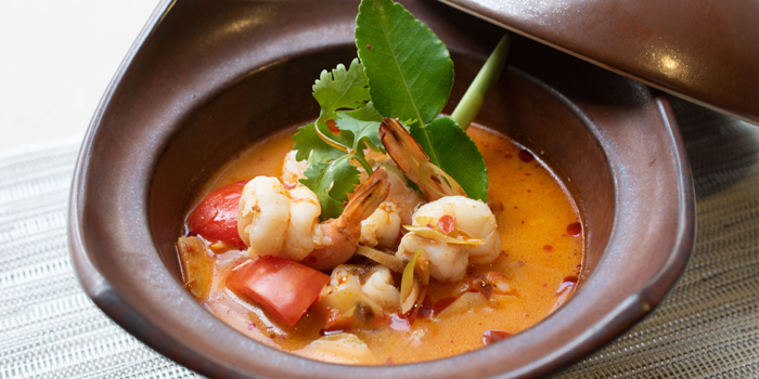 Tom-Yam-Goong from Sea Breeze Cafe in Patong, Phuket, Thailand.