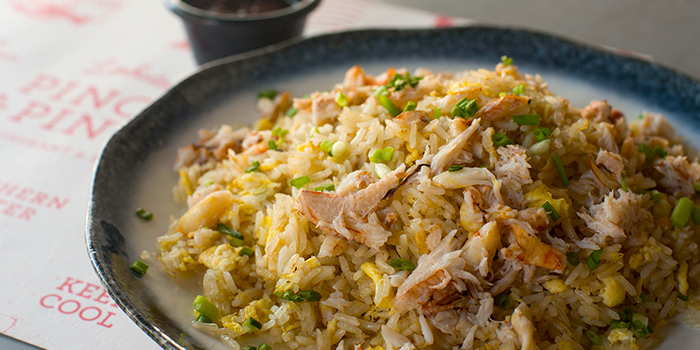 Crabmeat Fried Rice from Pince & Pints Restaurant and Bar in Duxton, Singapore