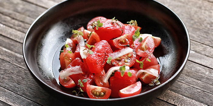 Watermelon Wild Honey Salad from Open Farm Community in Dempsey, Singapore