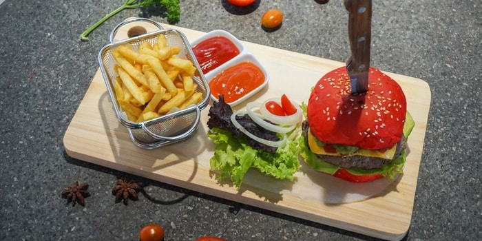 Burger from The Barrel, Legian, Bali