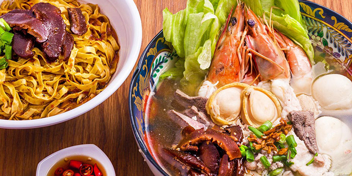 Whole Abalone Seafood Soup from Ah Ter Teochew Fishball Noodle Bar in Boat Quay, Singapore