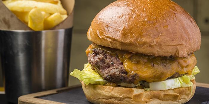 British Beef Burger, Bread Street Kitchen & Bar, The Peak, Hong Kong