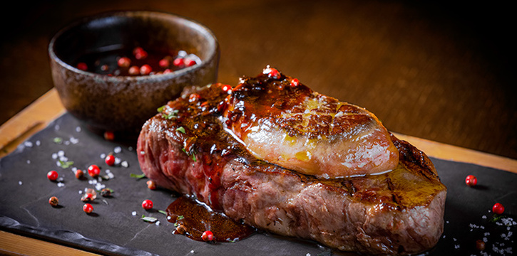 Steak with Foie Gras from Opus Bar & Grill in Hilton Hotel along Orchard Road, Singapore