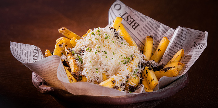 Over the Top Fries from Opus Bar & Grill in Hilton Hotel along Orchard Road, Singapore