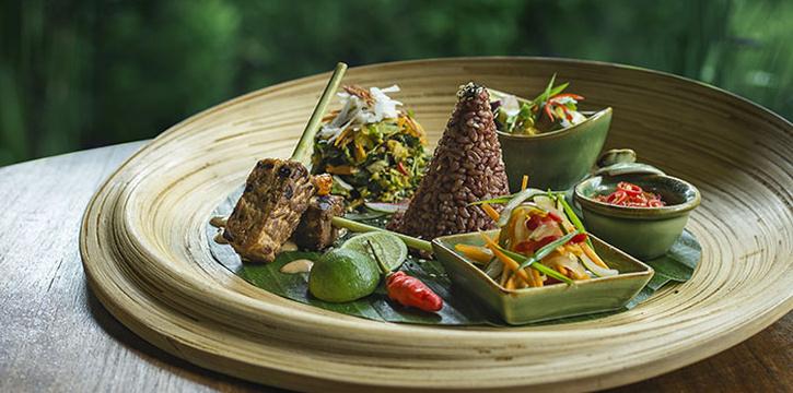 Food from Sakti Dining Room, Ubud, Bali