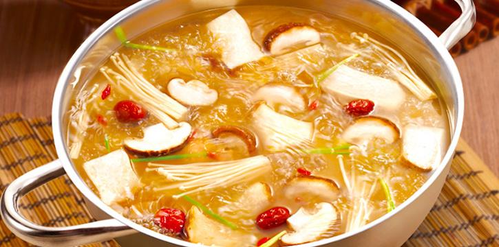 Mushroom Soup from Little Sheep Hot Pot @ One Fullerton in Fullerton, Singapore