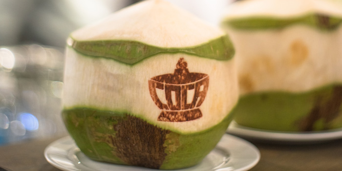Fresh Coconut from Coca at Central World, 6 floor Ratchadamri, Patumwan Bangkok