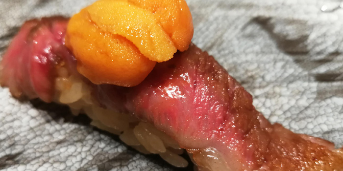 Wagyu Uni Sushi from The Older Chef at 12/2 Lat Phrao Rd Saphansong, Wang Thonglang Bangkok
