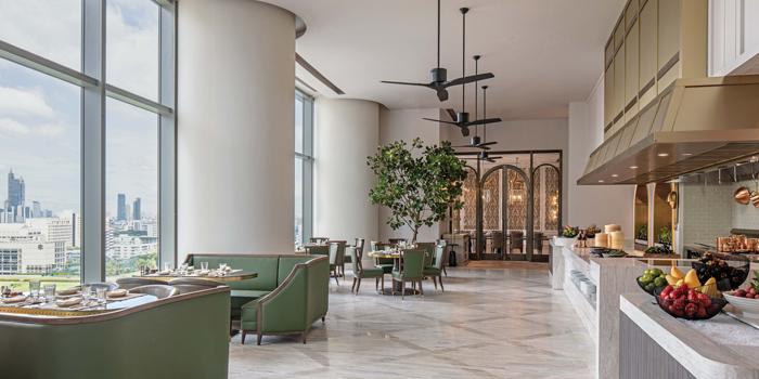Ambience of The Brasserie at Waldorf Astoria Bangkok Lower Lobby, 151 Ratchadamri Road Bangkok