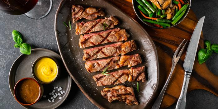 American USDA Prime Rib Eye Steak at Collin