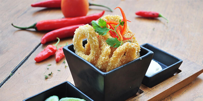 Breaded Calamari from Sunset On Seminyak, Bali