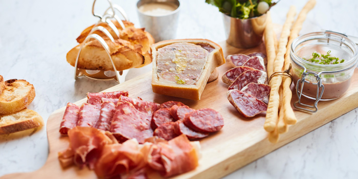 Charcuterie from The Brasserie at Waldorf Astoria Bangkok Lower Lobby, 151 Ratchadamri Road Bangkok