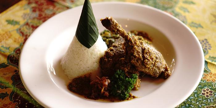 Food from Wayang Restaurant, Ubud, Bali