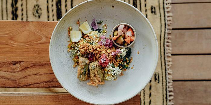 Food from Zin Cafe Canggu, Bali