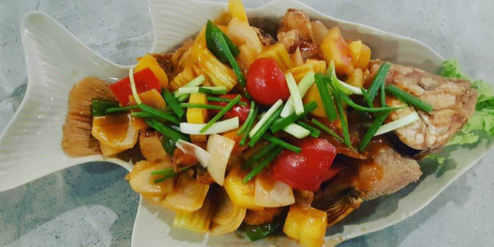 Deep-Fried-Fish-with-Sweet-and-Sour-Sauce from Fish Bar & Restaurant in Rawai, Phuket, Thailand