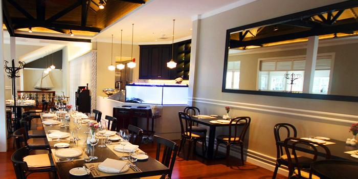 Dining Area of Brasserie 9 at 27 Soi Piphat North Sathorn Road, Silom Bang Rad, Bangkok