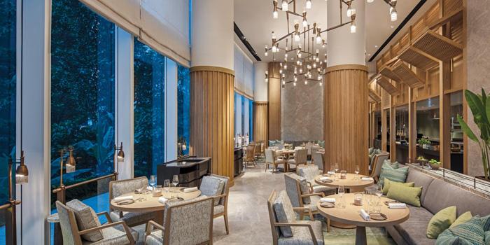 Dining Area of Front Room at Waldorf Astoria Bangkok Lower Lobby, 151 Ratchadamri Road Bangkok