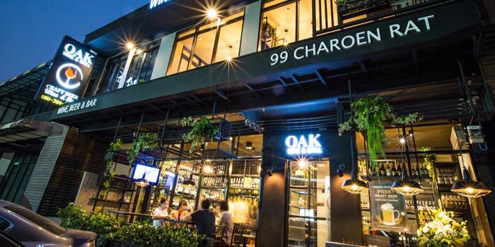 Entrance of Oak Wine and Grill at 585/4 Charoan Rat Road Bang Kloe, Bang Kho Laem Bangkok