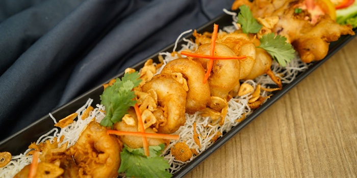 Fried-squid-with-garlic from Beyond Seafood Restaurant in Patong, Phuket, Thailand
