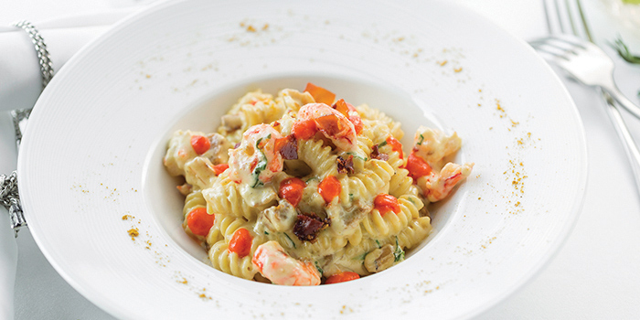 Fusilli-with-Mazzara-red-prawns from Sunset Grill in Kamala, Phuket, Thailand