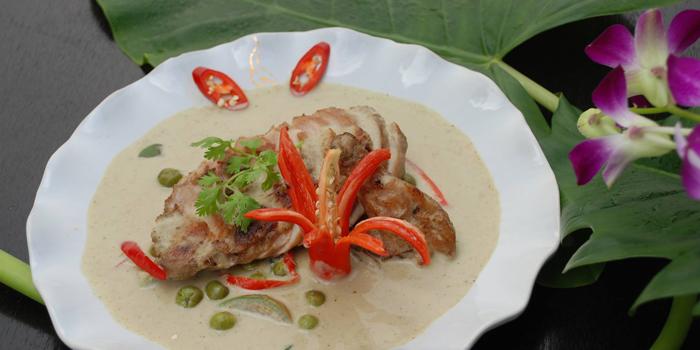 Grilled Chicken Green curry from Kinnaree Gourmet Thai at 43 Soi Sukhumvit 8 Khwaeng Khlong Toei, Khet Khlong Toei Bangkok