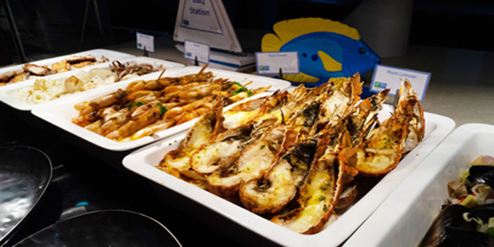 Grilled Seafood from Sea Breeze Cafe in Patong, Phuket, Thailand.