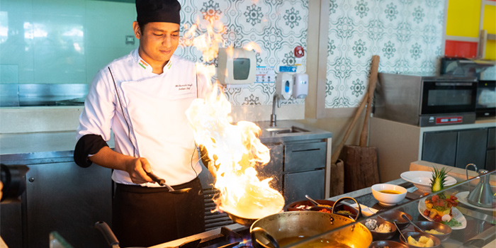 Indian-Cooking of Sea Breeze Cafe in Patong, Phuket, Thailand.