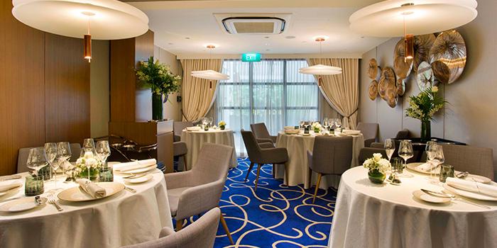 Interior from Vianney Massot Restaurant on Hongkong Street in Clarke Quay, Singapore