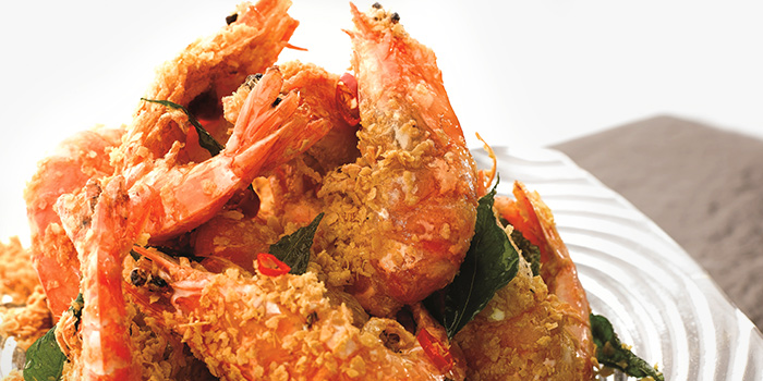 Cereal Prawns from JUMBO Seafood (Jewel Changi Airport) in Changi, Singapore