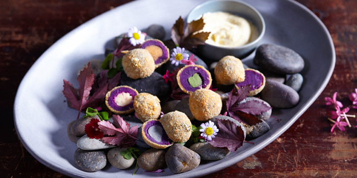 Japanese Purple Sweet potatoes Croquettes from Tenshino at Pullman Bangkok King Power Hotel 8/2 Rangnam Road Thanon-Phayathai, Ratchathewi, Bangkok