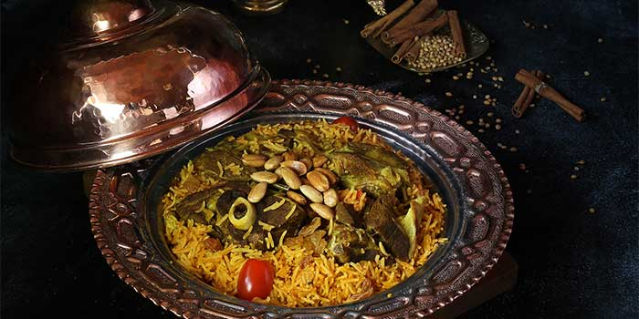 Lamb or Chicken Madghout  - Half at Awtar Shisha Lounge