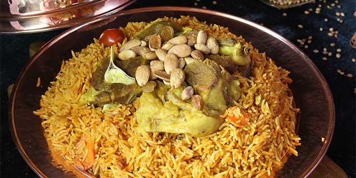 Lamb or Chicken Madghout  - Quater at Awtar Shisha Lounge