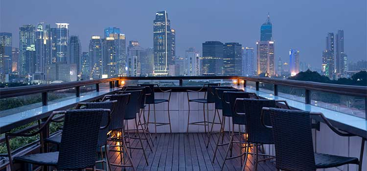 Rooftop Bar at La Vue Rooftop Bar by The Hermitage Jakarta