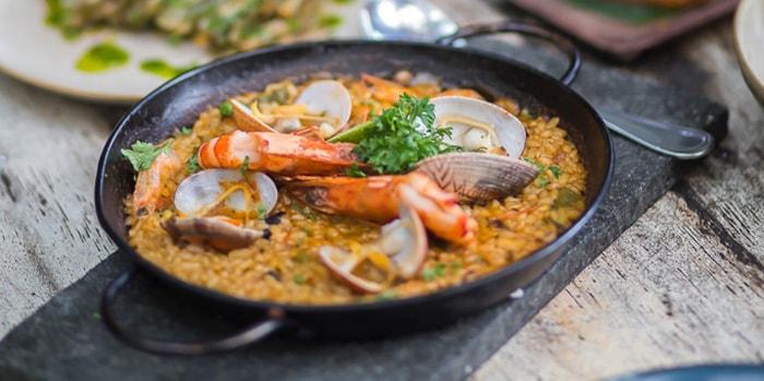 Food at La Finca, Bali