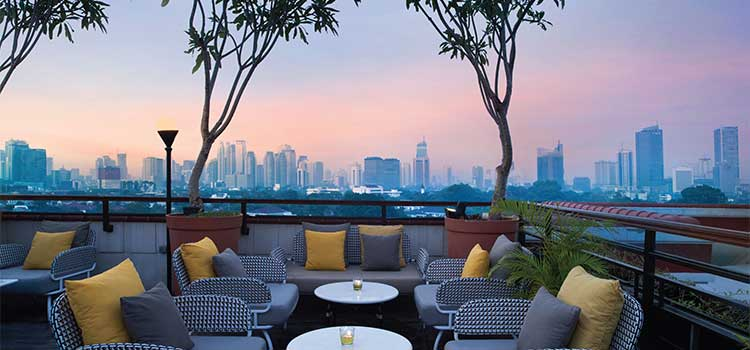 Rooftop at La Vue Rooftop Bar by The Hermitage Jakarta