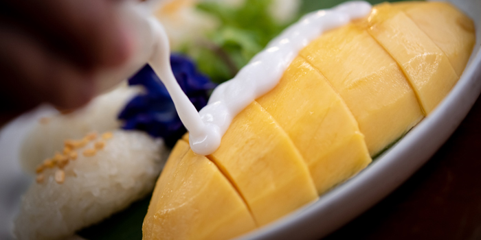Mango Sticky Rice from Elefin at 3/250 Soi Mahadlekluang 2 Rajadamri Road, Patumwan Bangkok