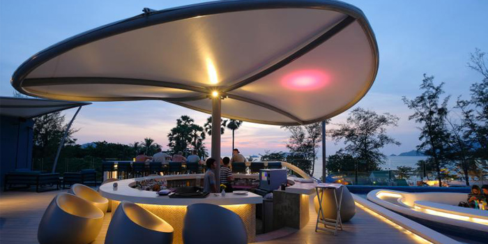 Outdoor of Beyond Seafood Restaurant in Patong, Phuket, Thailand
