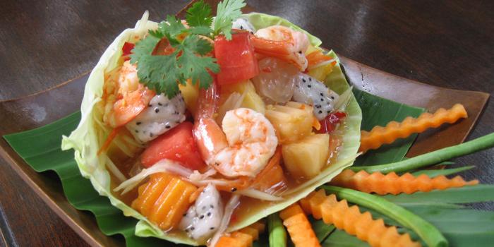 Papaya Salad from Kinnaree Gourmet Thai at 43 Soi Sukhumvit 8 Khwaeng Khlong Toei, Khet Khlong Toei Bangkok