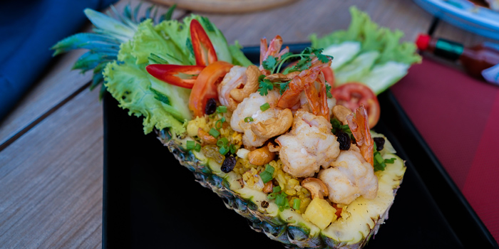 Pineapple-fried-rice from Beyond Seafood Restaurant in Patong, Phuket, Thailand